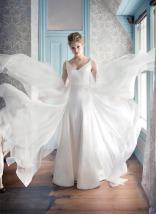 Chiffon wedding dress – White Bridal collection