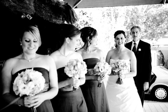 Waiting to walk down the aisle