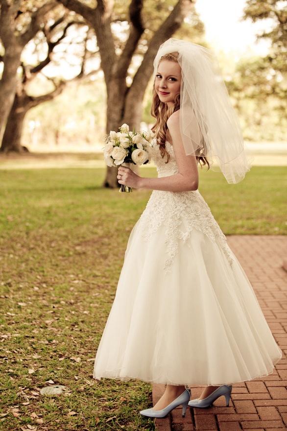 Ballerina Length Dress The Merry Bride
