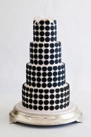 Black and white polka dot cake!