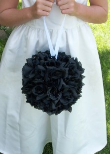 Black kissing ball, by designershindigs on etsy.com
