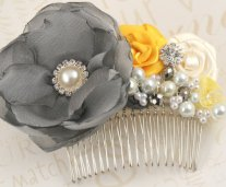 Bridal hair comb, by SolBijou on etsy.com