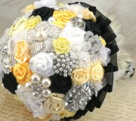 Brooch bouquet, by SolBijou on etsy.com
