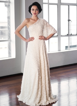 Asymmetric wedding dress – Pearl Bridal collection