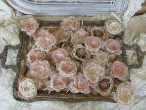 fabric flowers, by mybrokenart on etsy.com
