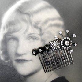 Hair jewellery, by ohfaro on etsy.com