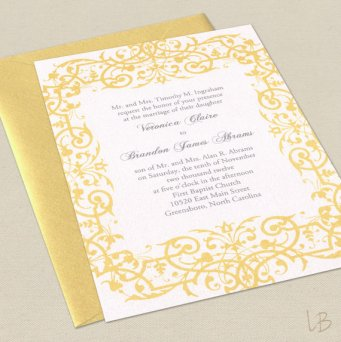 Invitation, by LBCreativePaper, on etsy.com