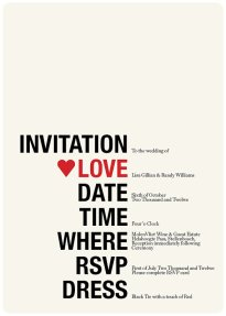 invitation, by TheLovelyLetters on etsy.com