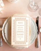 Menu (via marthastewartweddings.com)