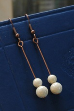 Milk drop earrings, from aimeeglucina.co.nz