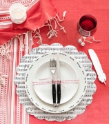 music sheet place setting