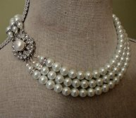 Necklace, by AlexiBlackwellBridal on etsy.com