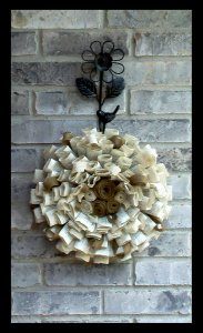 Paper wreath, by FieldsofGraceDecor on etsy.com