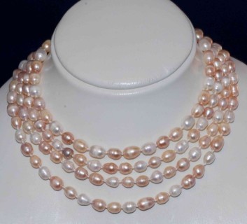 Pearl necklace, by PurePurePearl on etsy.com