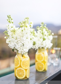 Simple centrepieces for the tables