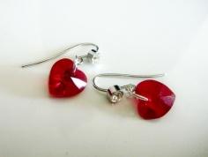 Swarovski crystal earrings, by girlsstuff on felt.co.nz
