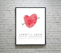 Thumbprint heart, by FlutterbyeNotes on etsy.com