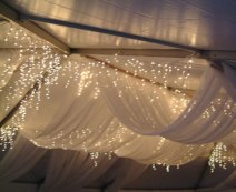 tulle and fairy lights - a very effective, beautiful look