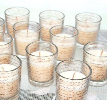 Votive candles, by inspirationsbyfaith on etsy.com
