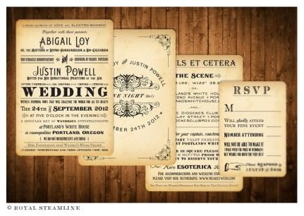 Wedding invitation from rubyanddiva.com