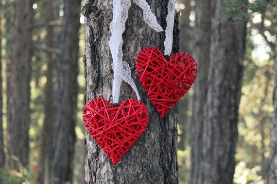 Wooden hearts, by ManniaTitta on etsy.com
