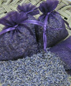 Bags of lavender - possible wedding favour idea, by Atelieremmarose on etsy.com
