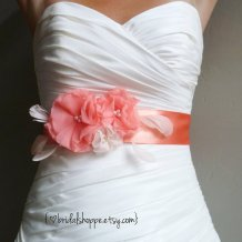 Bridal sash, by BridalShoppe on etsy.com