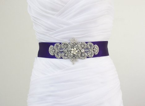 Bridal sash/belt, by luxebridalcouture on etsy.com
