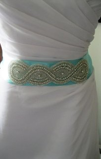 Bride's sash, by FascinatingCreations on etsy.com