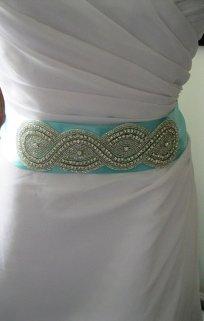 Bride's sash, by FascinatingCreations on etsy.com
