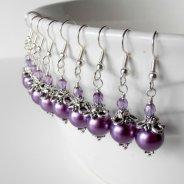 Bridesmaid earrings, by FiveLittleGems on etsy.com