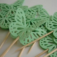 Butterfly cupcake toppers, by Whimsiesbykaren on etsy.com