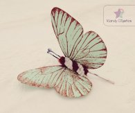 Butterfly hair accessory, by KandyDisenos on etsy.com