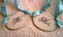 Chair hangers, by RomanticPlanet on etsy.com