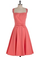 Coral dress, from modcloth.com