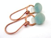 Earrings, by relique on felt.co.nz