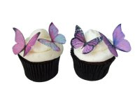 Edible butterflies, by incrEDIBLEtoppers on etsy.com