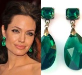 Emerald earrings, by roomofyourown on etsy.com