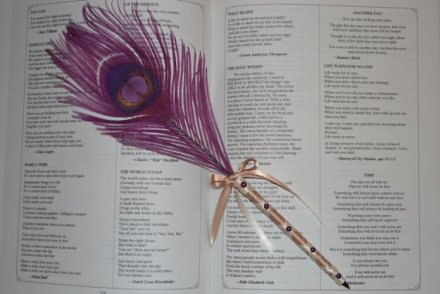 Feather pen for signing the register, by CreationsByChristen on etsy.com