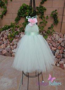 Flower girl dress, by indigobabies on etsy.com