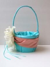 Flowergirl basket, by RomancingJuliet on etsy.com