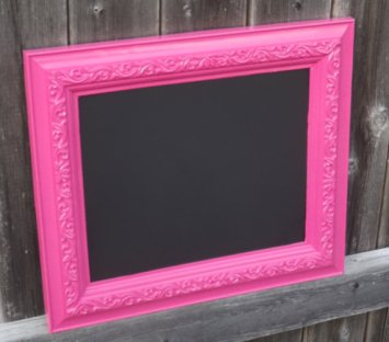 Framed chalkboard, by FrameItbyJill on etsy.com
