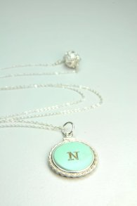 Initial pendant - possible bridesmaid gift. By LillyputLaneDesignCo on etsy.com