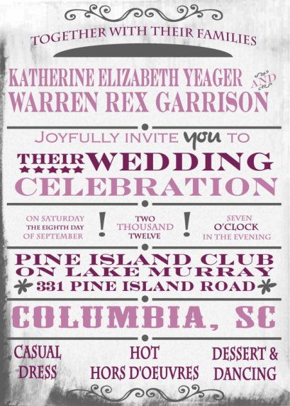 Invitation, by TWPWeddings on etsy.com
