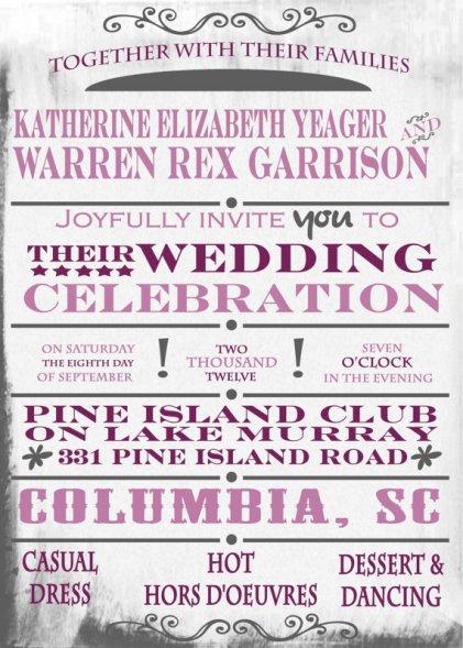Invitation, by TWPWeddings on etsy.com