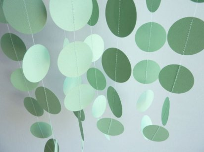 Paper garland, by FabulouslyHomemade on etsy.com