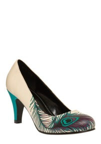 Peacock heels, from modcloth.com