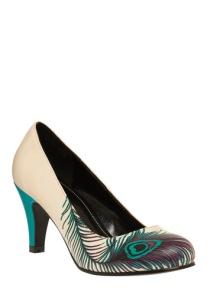 Peacock heels, from modcloth.com