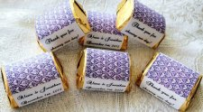 Personalised favour box stickers, by WeddingFavorsGalore on etsy.com