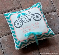 Personalised ringbearer pillow, by Freshline on etsy.com